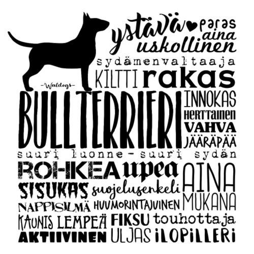 Bullterrieri Sanat M - Miesten premium t-paita