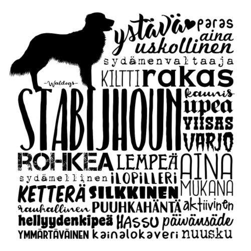 Stabijhoun Sanat M - Miesten premium t-paita