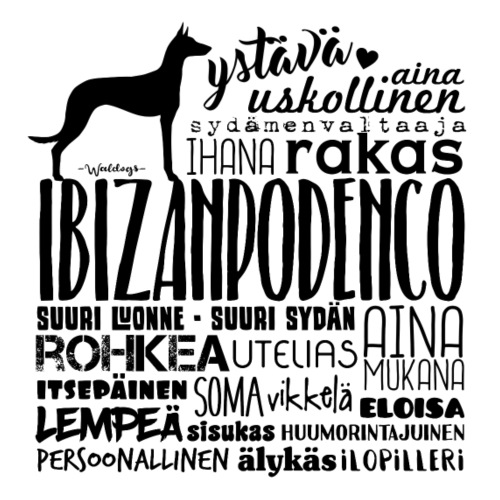 Ibizanpodenco Sanat M - Miesten premium t-paita