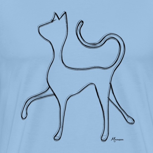 Hypnocat - Black - Miesten premium t-paita