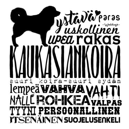 Kaukasiankoira Sanat M - Miesten premium t-paita