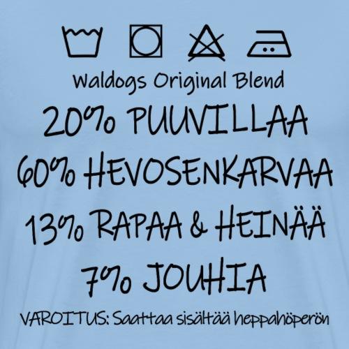 Heppahöperö Blend - Miesten premium t-paita