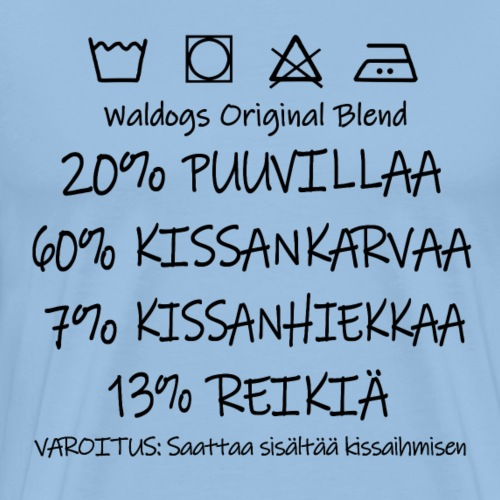 Kissi Original Blend - Miesten premium t-paita