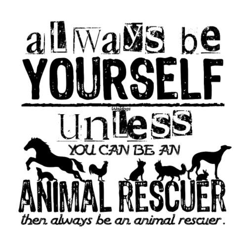 Animal Rescuer Black - Miesten premium t-paita