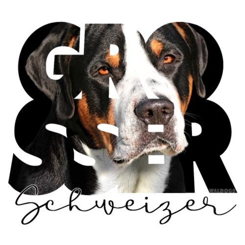 Grosser Schweizer Dark - Miesten premium t-paita
