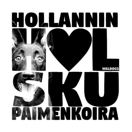 NASSU Holsku LK Musta - Miesten premium t-paita