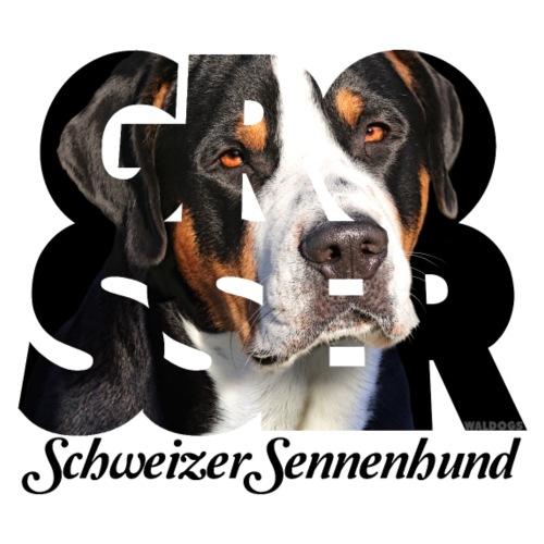 Grosser Schweizer Sennenhund Dark - Miesten premium t-paita