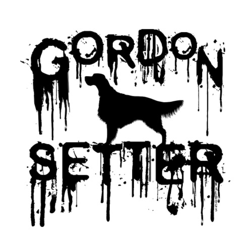Gordon Setter Splatter I - Miesten premium t-paita