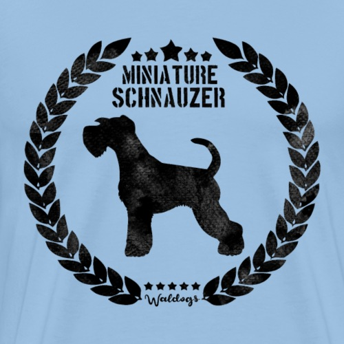 Miniature Schnauzer Army Black - Men's Premium T-Shirt