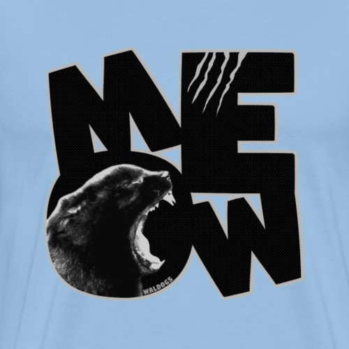 MEOW Black - Miesten premium t-paita