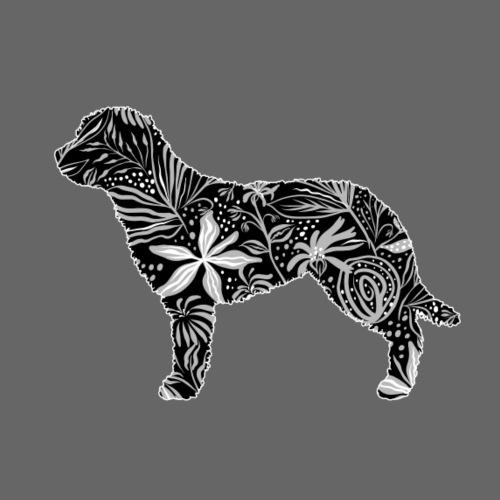 Flower Perro Tail - Miesten premium t-paita