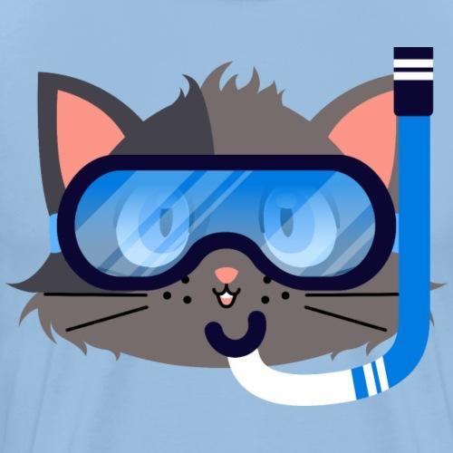 Katzentauchmaske und Schnorchel - Männer Premium T-Shirt