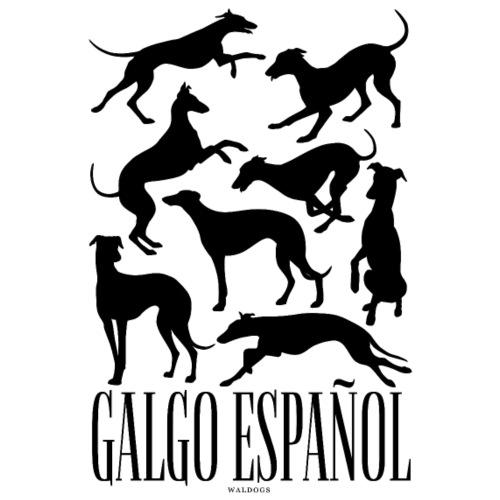 Galgo Espan ol Black - Miesten premium t-paita