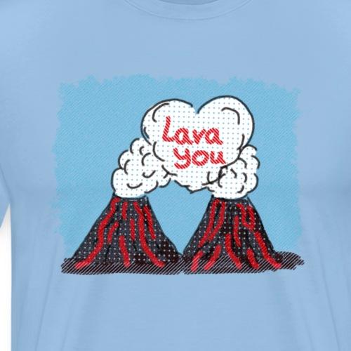 Lava You - Vulkan Liebe - Männer Premium T-Shirt