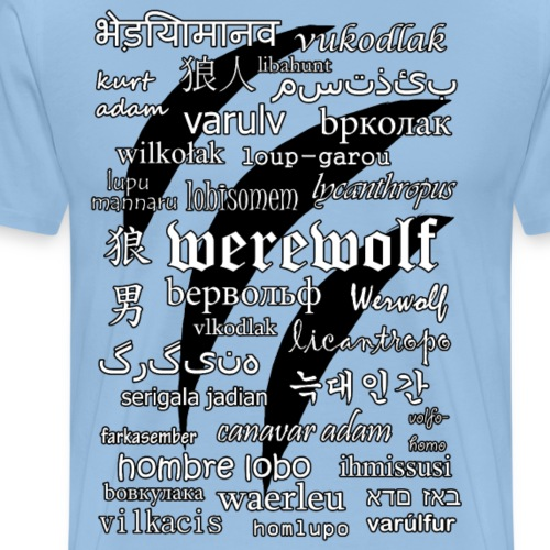 Werewolf in 33 Languages - Koszulka męska Premium