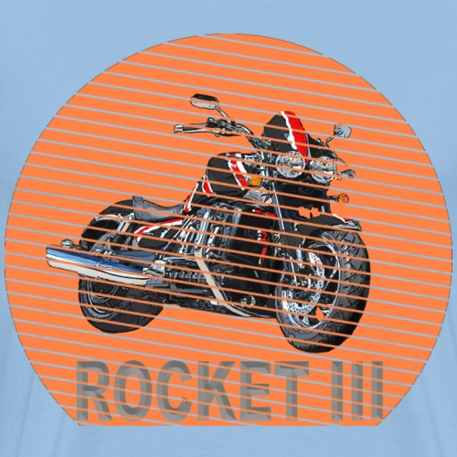 Rocket III Roadster Sun - Sonne black red - Männer Premium T-Shirt