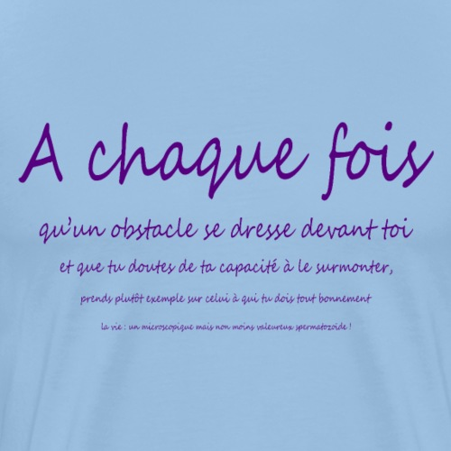 courage (violet) - T-shirt Premium Homme