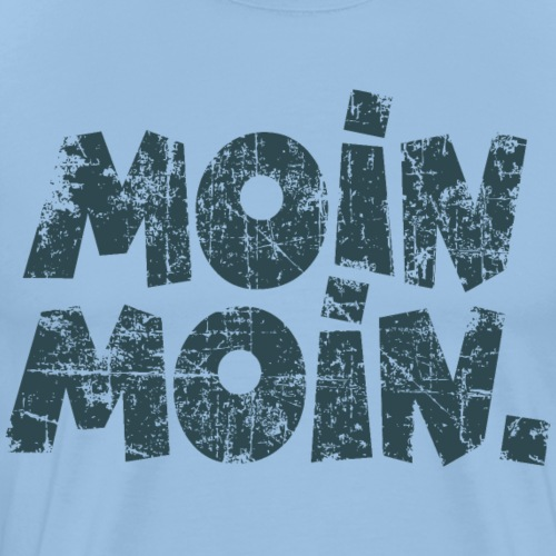 Moin Moin Vintage Dunkelblau Guten Morgen Gruß - Männer Premium T-Shirt