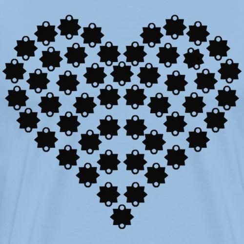 Schießbuden Herz schwarz - Männer Premium T-Shirt