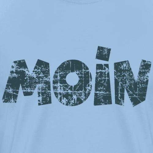 Moin (Vintage Dunkelblau) Guten Morgen Gruß - Männer Premium T-Shirt