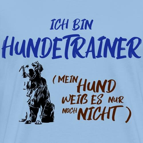 Ich bin Hundetrainer - Golden Retriever / Geschenk - Männer Premium T-Shirt