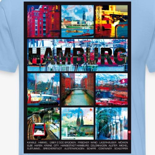 Hamburg Collage Bilder Elbe 01 - Männer Premium T-Shirt