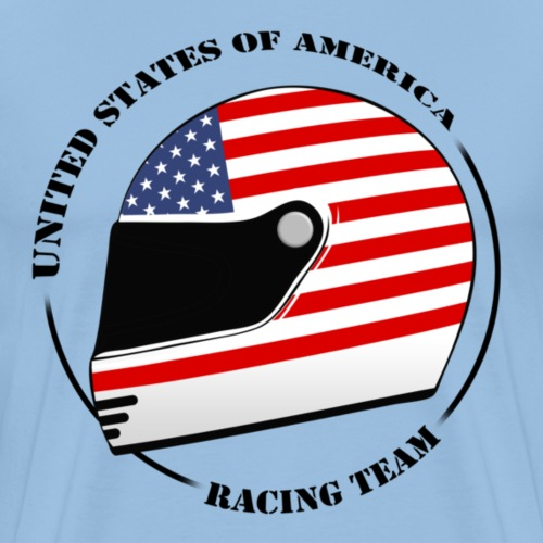helmet_racing_team - Men's Premium T-Shirt