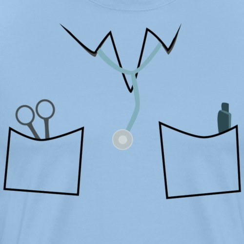 Scrubs tee for doctor and nurse costume - Men's Premium T-Shirt