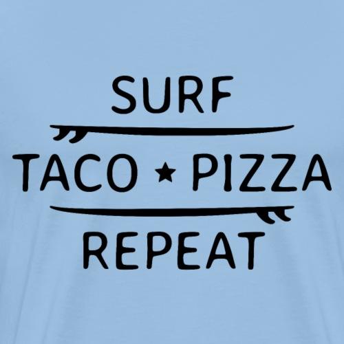 Surfen endlos mit Tacos und Pizza Party am Strand - Männer Premium T-Shirt