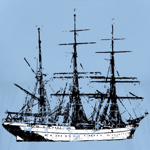Segelschiff Segel Design Vintage - Männer Premium T-Shirt