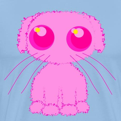 lurvig neonrosa kawaii anime doodle hund - Premium-T-shirt herr