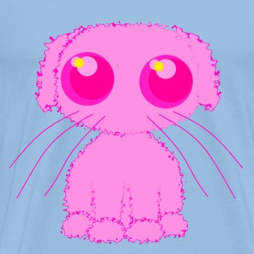 lurvig neonrosa kawaii anime doodle hund - Men's Premium T-Shirt