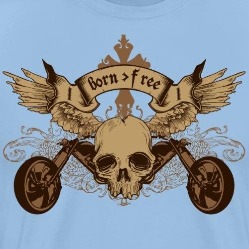 born free riders - Maglietta Premium da uomo