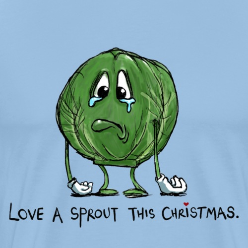Christmas Sprout funny vegetable jumper - Maglietta Premium da uomo