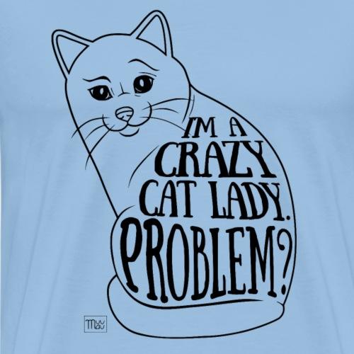 Crazy Cat Lady I - Miesten premium t-paita