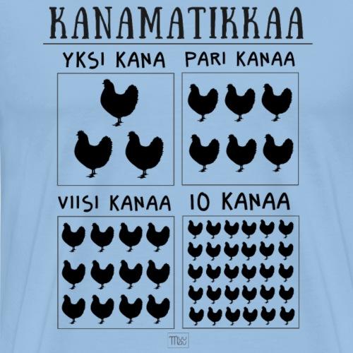 Kanamatikkaa II - Miesten premium t-paita