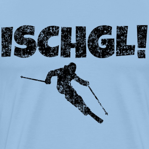 Ischgl Skifahrer (Schwarz) Apres-Ski Wintersport - Männer Premium T-Shirt