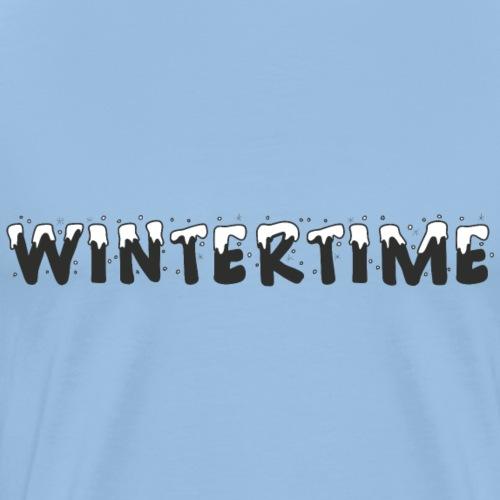 Wintertime Winter Schnee Geschenk - Männer Premium T-Shirt