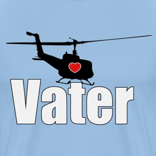 Helikopter Vater - das Geschenk zum Vatertag - Männer Premium T-Shirt