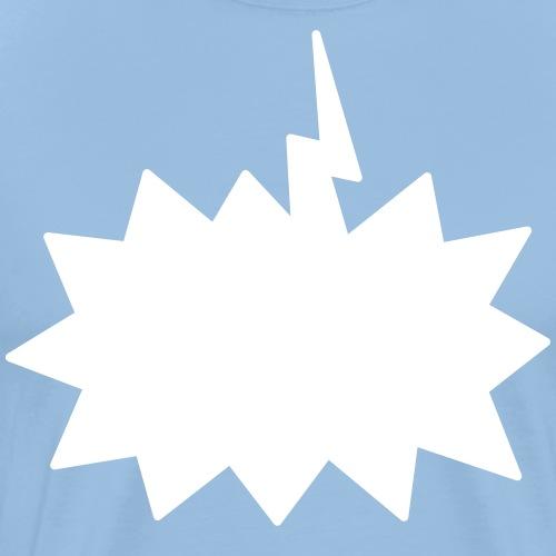 Text Balloon (Shout inverted) - Men's Premium T-Shirt