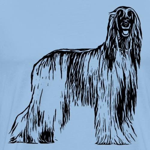 Afghane Afghanischer Windhund Design Geschenkidee - Männer Premium T-Shirt