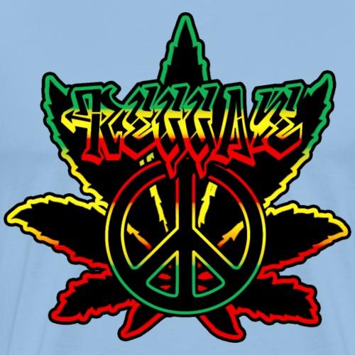reggae peace weed - T-shirt Premium Homme