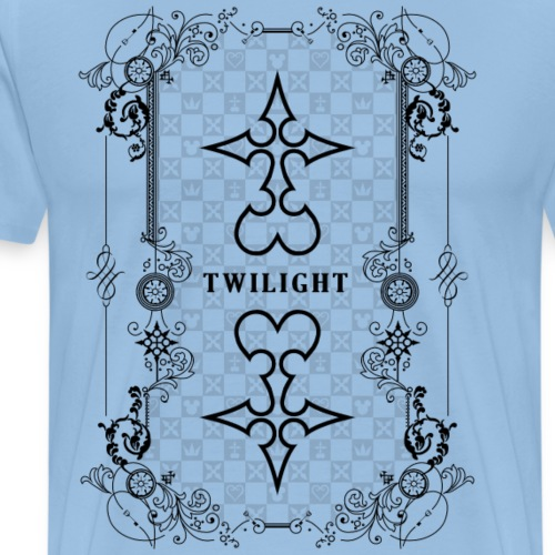 Crepúsculo - Kingdom Hearts - Negro - Camiseta premium hombre