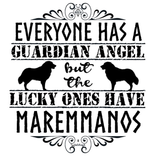 Maremmano Angels II - Miesten premium t-paita