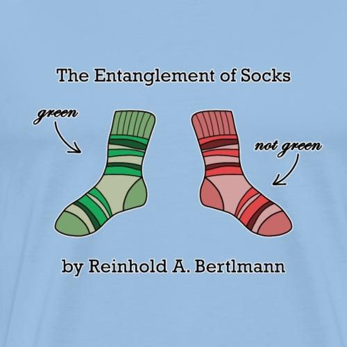 The Entanglement of Socks in Green - Men's Premium T-Shirt