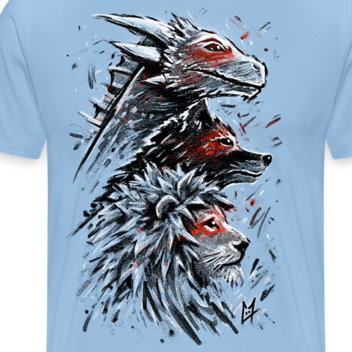 Dragon Wolf Lion - Men's Premium T-Shirt
