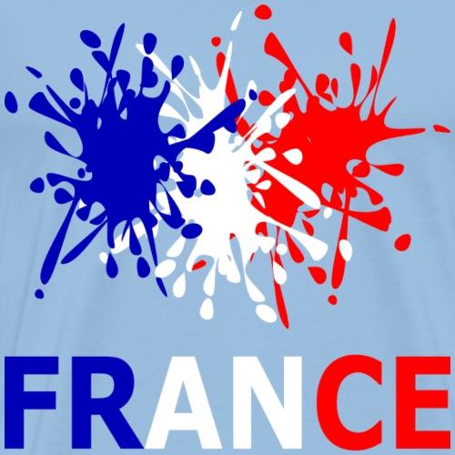 Francia - rosso bianco blu - Maglietta Premium da uomo