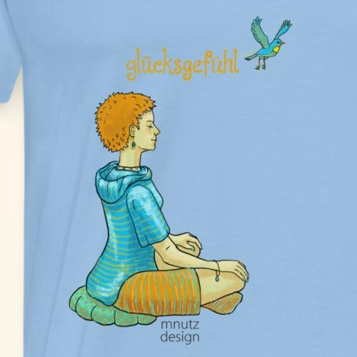 Glücksgefühl - Meditation - in Farbe - Männer Premium T-Shirt