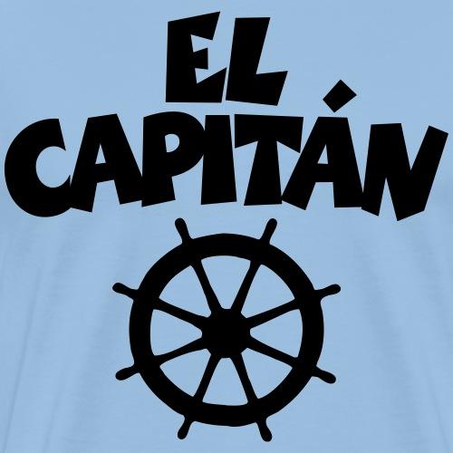 El Capitán Steuer Segler Segeln Segel - Männer Premium T-Shirt