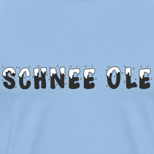 Schnee Ole Winter Geschenk - Männer Premium T-Shirt
